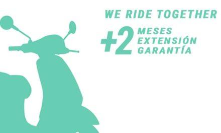 Piaggio extiende dos meses la garantía de sus motos y scooter