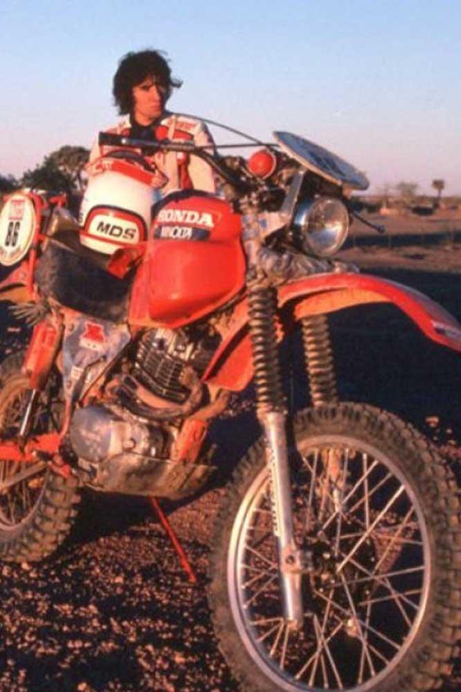 El estreno de Honda en el Rally Dakar fue en 1981 con un jovencísimo Neveu