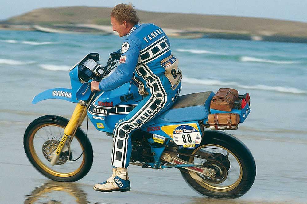 Jean Claude Olivier con Yamaha Tenere