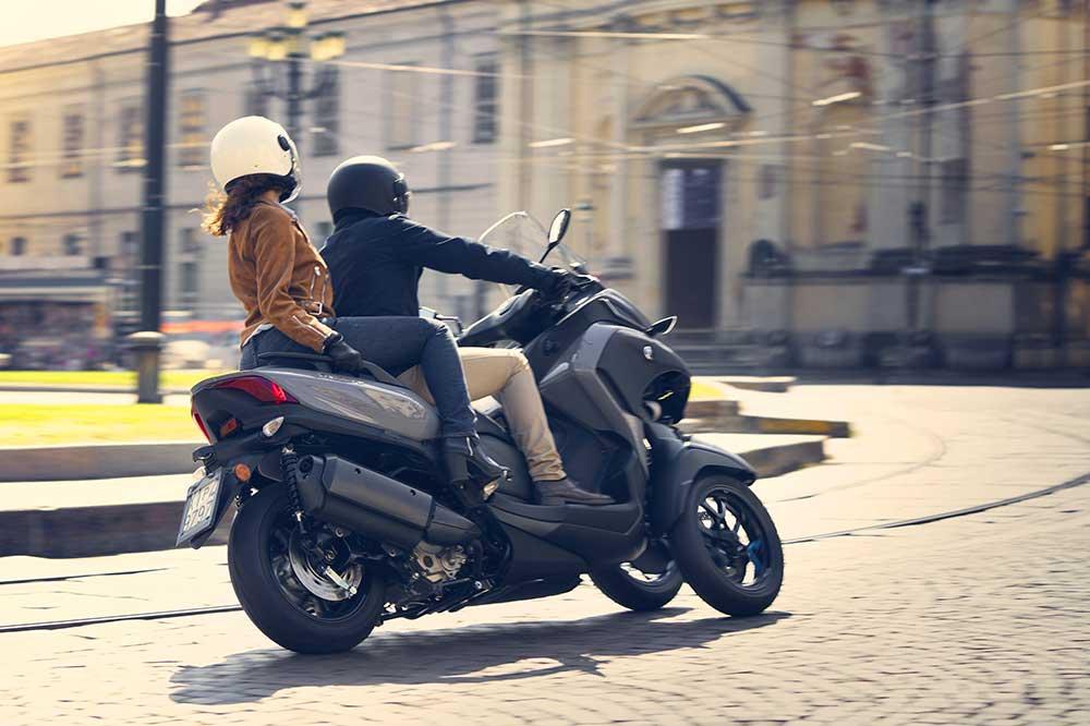 El diseño del Yamaha Tricity 300 se basa en el T Max