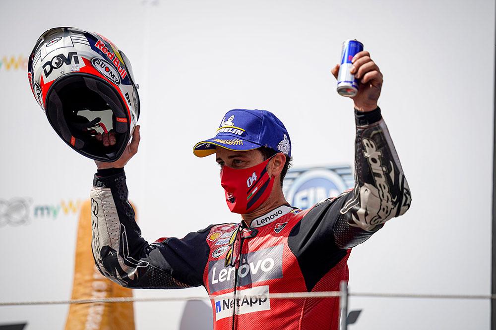 Victoria de Andrea Dovizioso en el GP de Austria