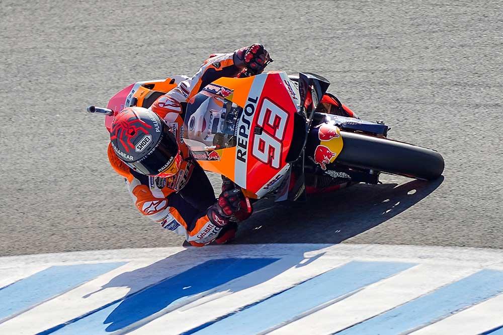 Tras la caída del GP de España, Márquez intentó tomar la salida en la siguiente carrera que se disputaba en el mismo circuito. Pero no pudo ser