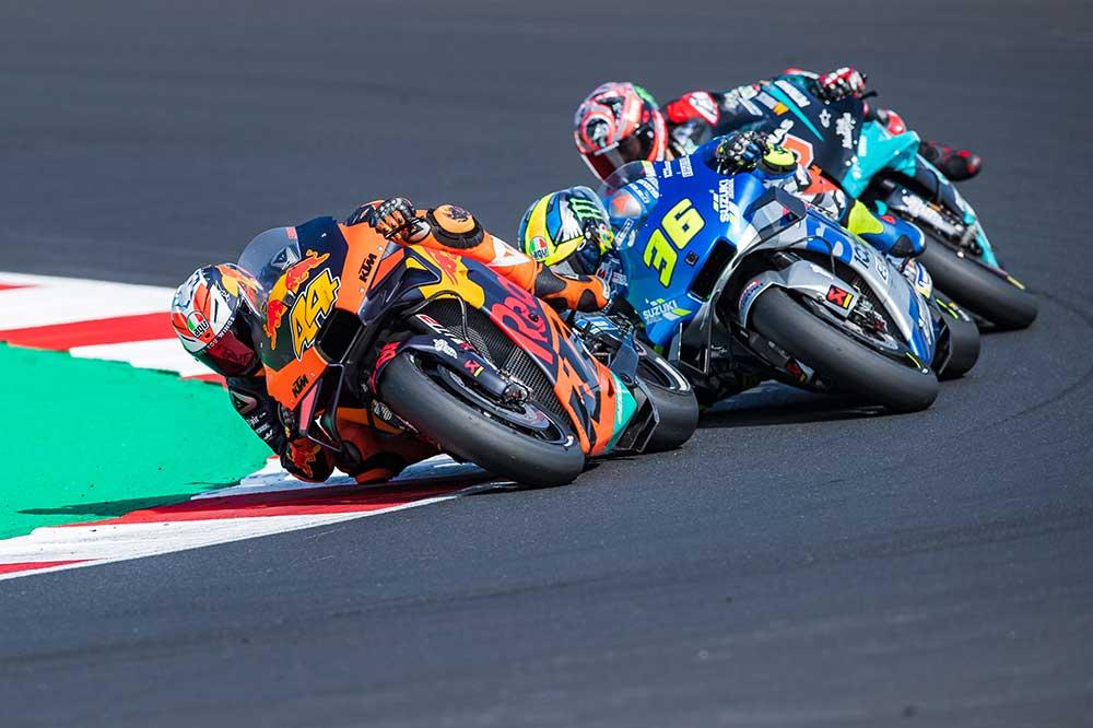 Perfecta progresión de las KTM en MotoGP. Espargaró fue tercero en el GP de Emilia Romagna