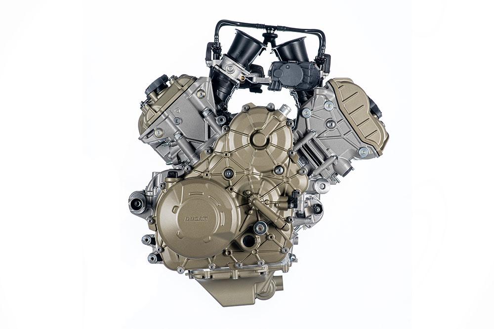 El motor V4 de Ducati desconecta los cilindros traseros por ejemplo en un atasco para que no llegue tanto calor al puesto de mando