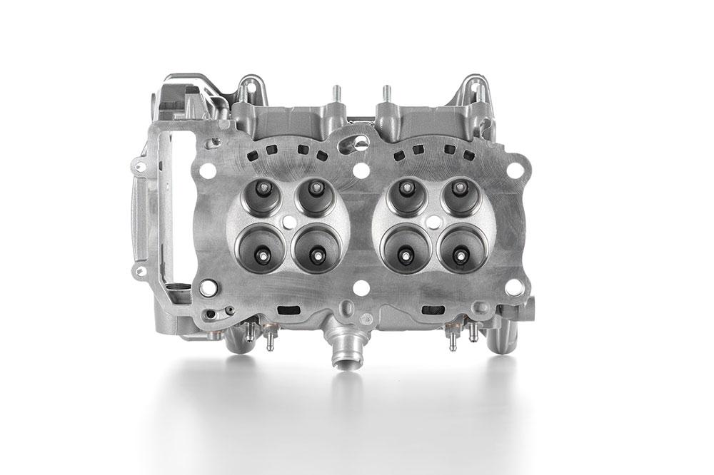 Culata del nuevo motor V4 de Ducati