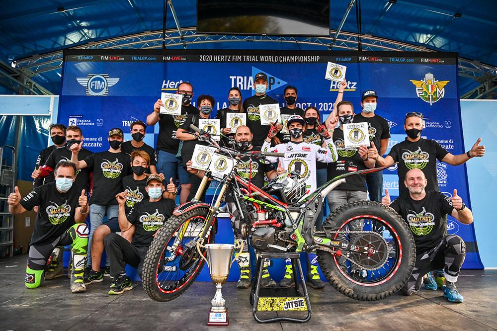 Pau Martínez y el equipo Vértigo, Campeones del Mundo de Trial 125