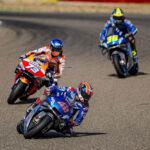 Tres pilotos españoles en el podio de MotoGP del GP de Aragón
