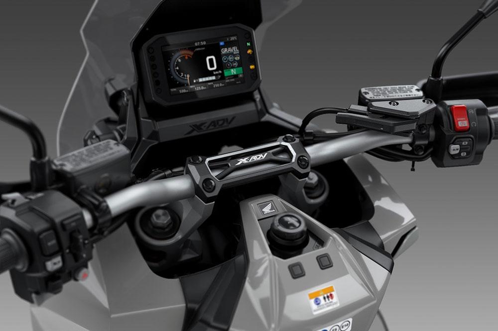El cuadro de instrumentos del Honda X ADV es una pantalla TFT de 5 pulgadas