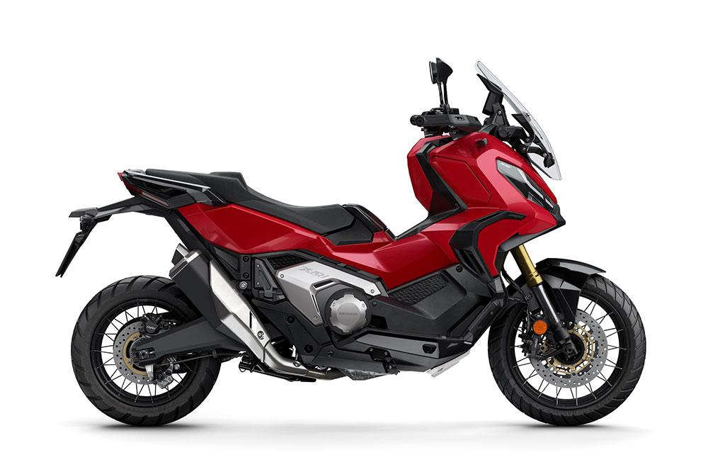 La terminación en rojo es una de las novedades del Honda X ADV 2021