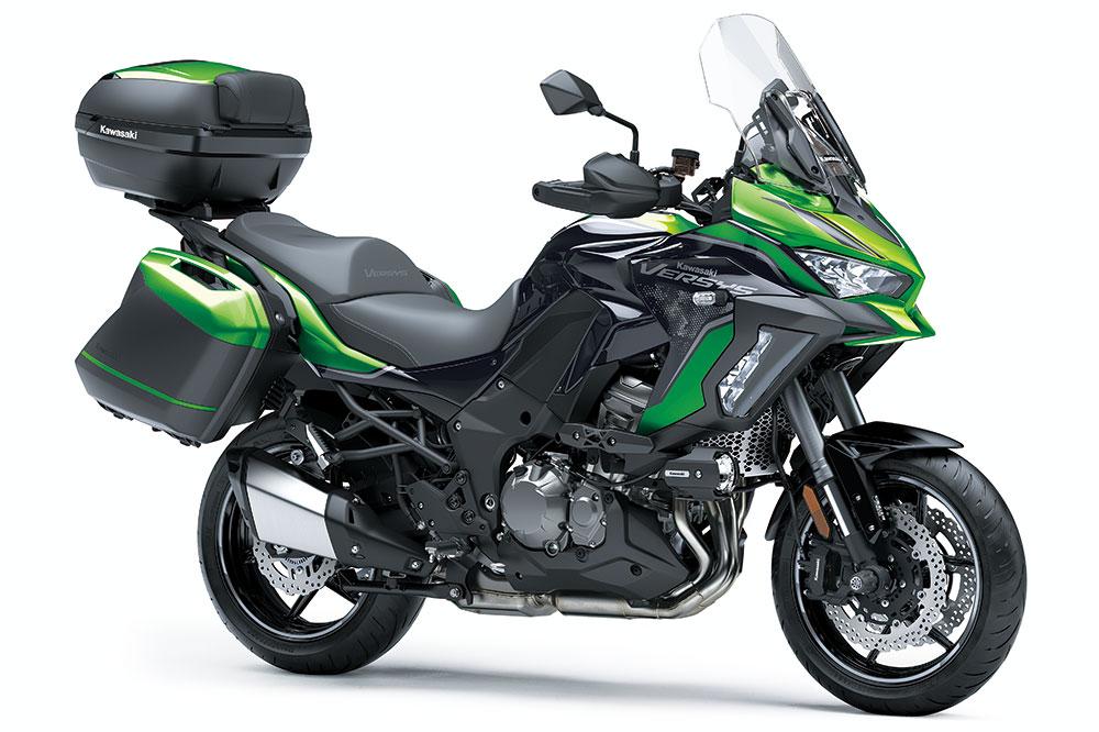 La Kawasaki Versys 1000 SE cuenta con una unidad de medición inercial que permite adaptar la electrónica de la moto al máximo