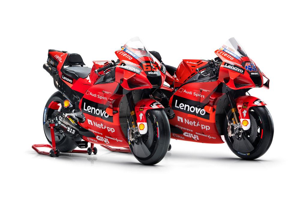Así serán las Ducati oficiales 2021