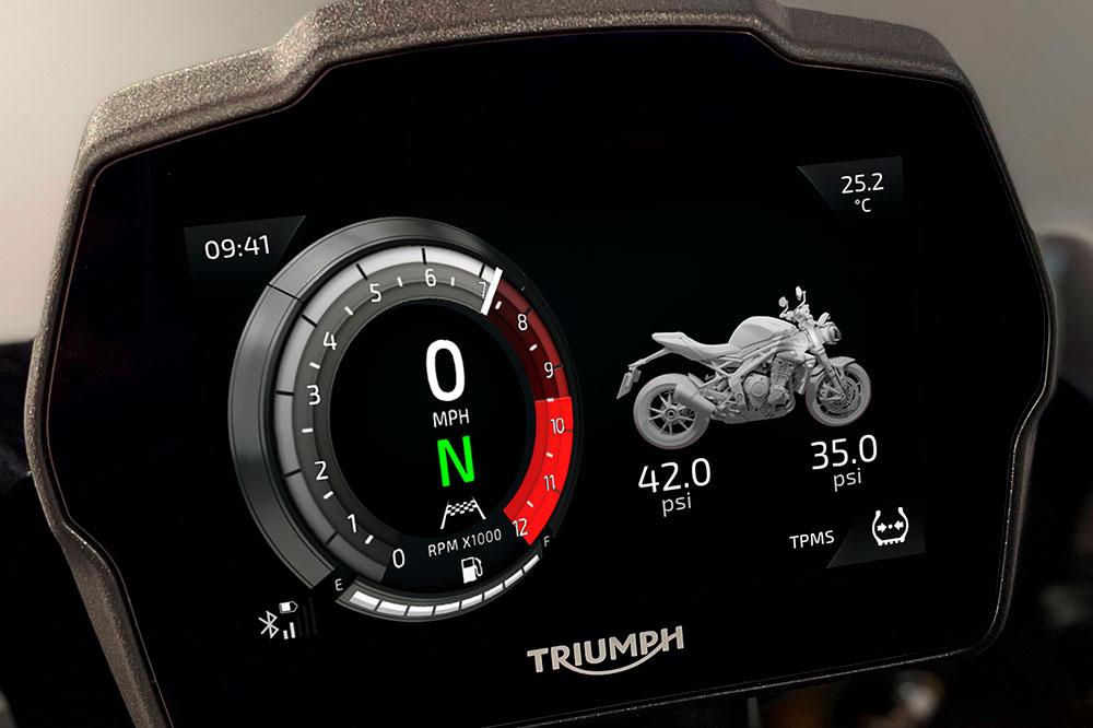 Cuadro de instrumentos de la Triumph Speed Triple RS 2021