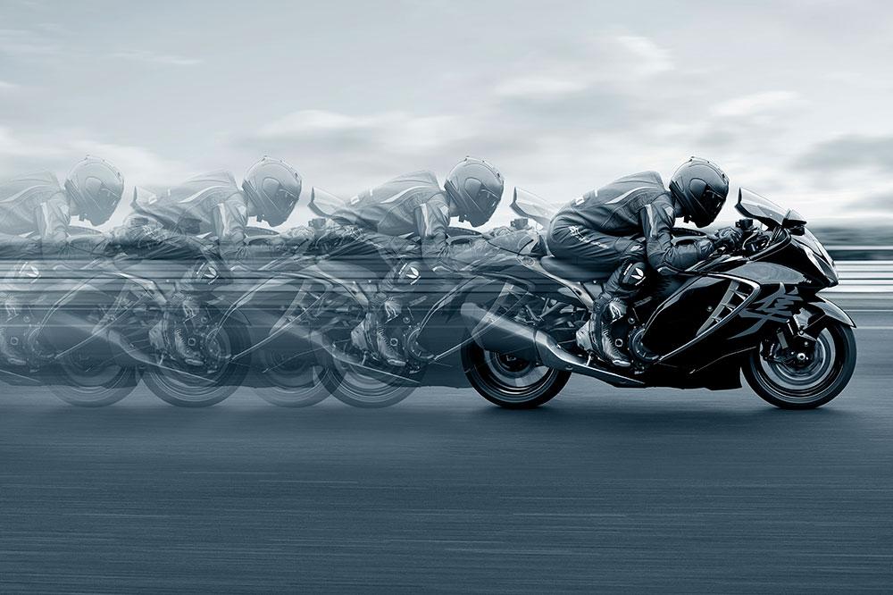 Con una silueta inconfundible la Suzuki Hayabusa es una de las motos de culto