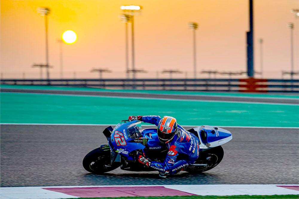 Alex Rins llega a la primera carrera de Qatar a tope de moral