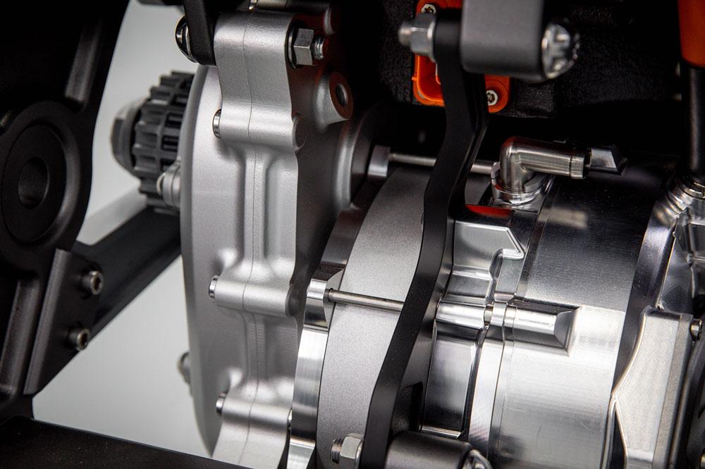 El motor de la primera moto Triumph Eléctrica es realmente ligero, unos 10 kilos de peso