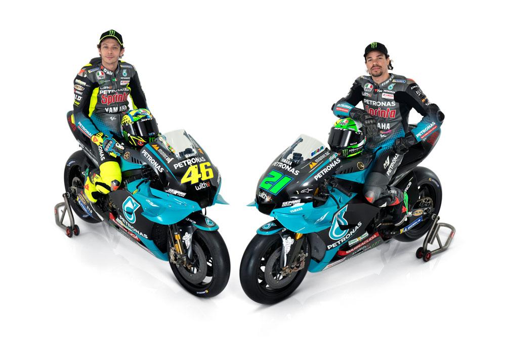 Valentino Rossi y Franco Morbidelli, compañeros de equipos en el Petronas MotoGP 2021