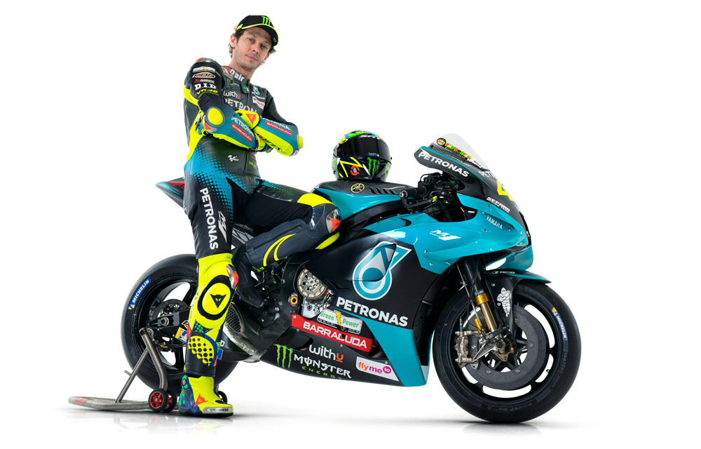 Valentino Rossi, con los colores del Petronas MotoGP 2021