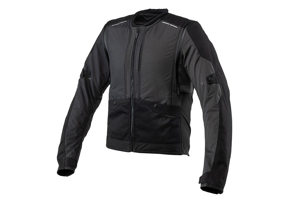 A este chaleco airbag se le pueden añadir mangas con protecciones para convertirse en una chaqueta independiente