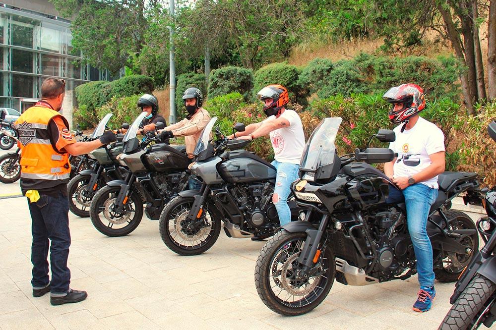 La Harley Davidson Pan America fue una de las estrellas de las pruebas de motos de Motorama Madrid