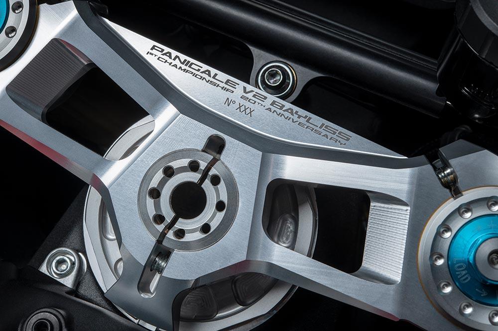 Detalle de la Ducati Panigale V2 Troy Bayliss