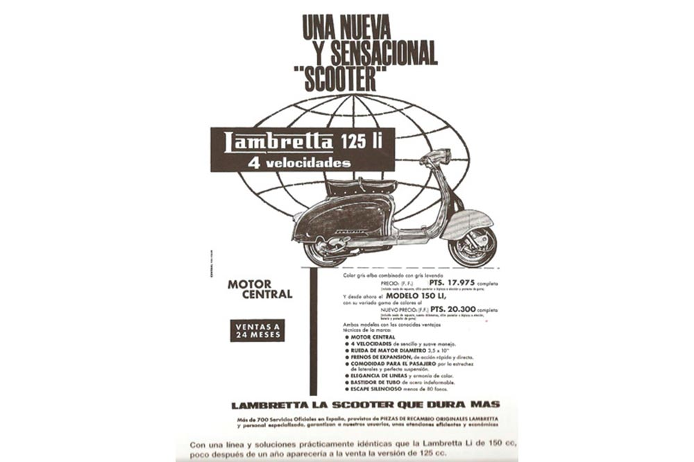 Publicidad de Lambretta en los años 60