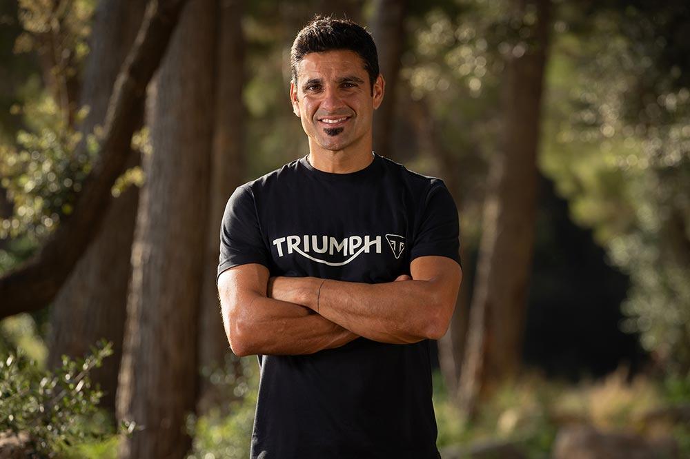 Iván Cervantes tiene cinco títulos mundiales de enduro y proporcionará su experiencia a Triumph