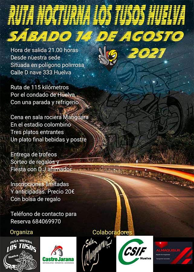 Ruta nocturna Los Tusos de Huelva