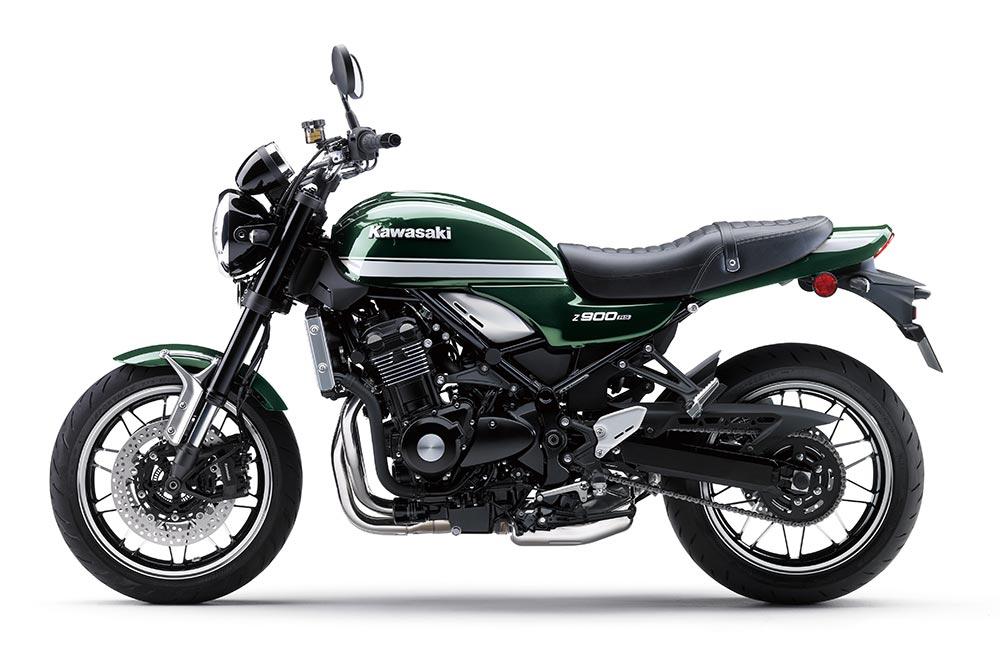 La Kawasaki Z 900 RS la encontrarás con tres decoraciones diferentes