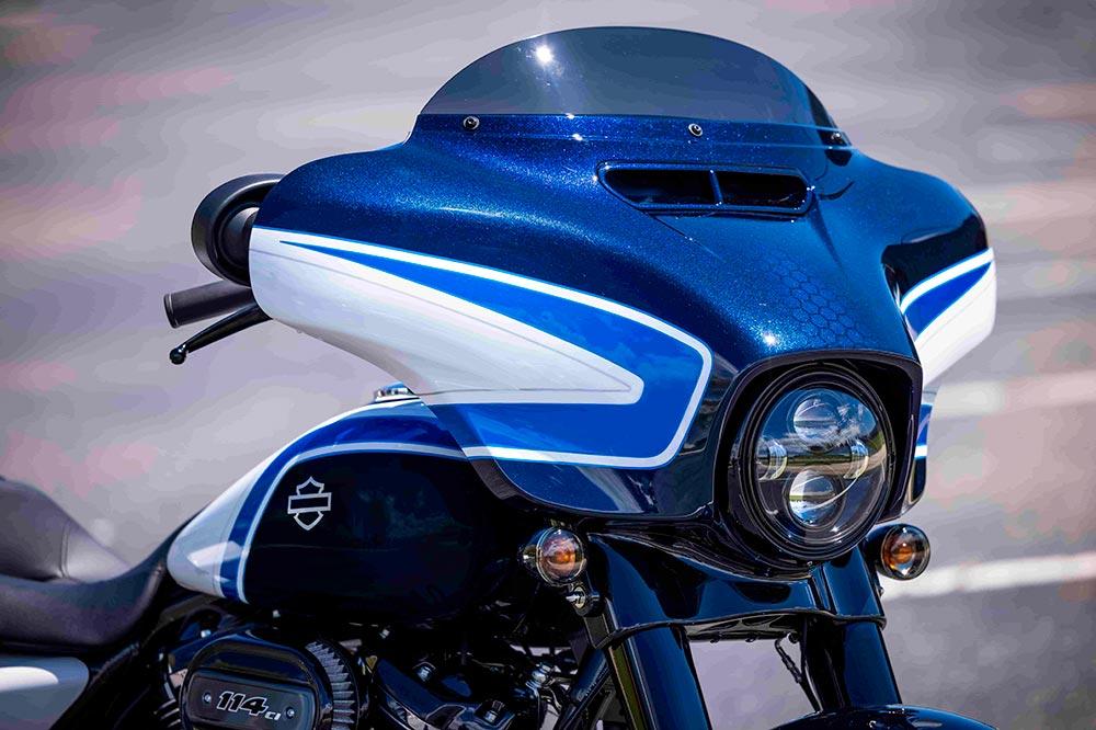 La Harley Davidson Street Glice Special tiene uno de los carenados más carismáticos de la firma norteamericana