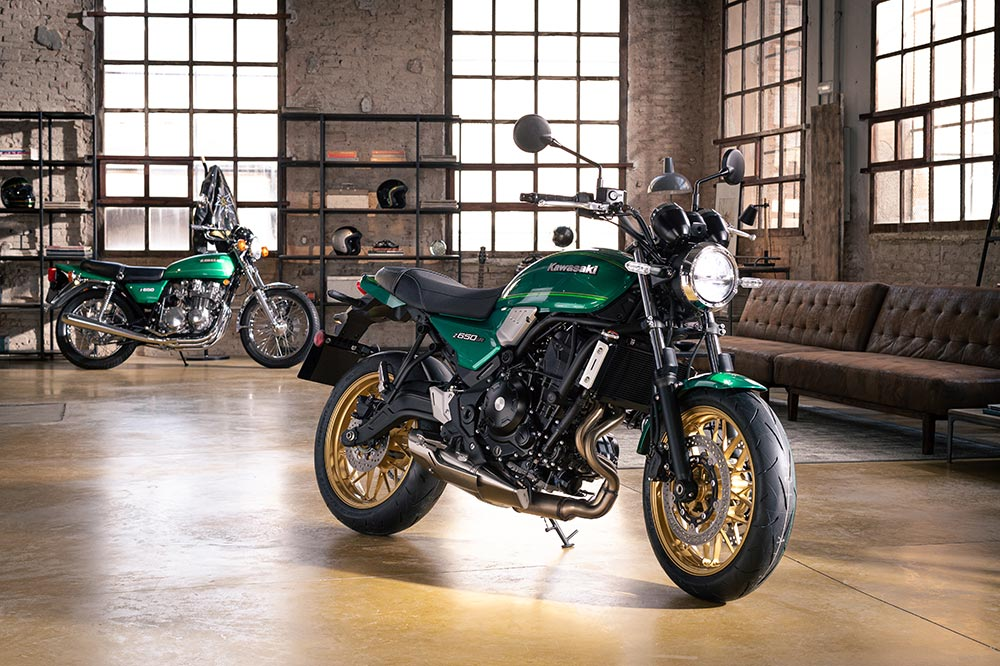 La Kawasaki Z 650 RS la tendrás disponible en tres colores diferentes