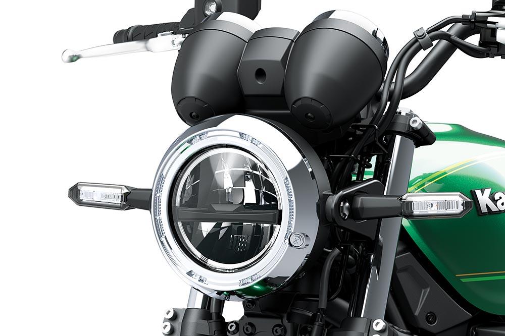 El faro redondo con tecnología LED es otra de las señas de identidad de la Z 650 RS
