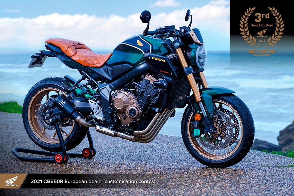 La CB 650R Limited Edition de Espace Motos obtuvo el tercer puesto