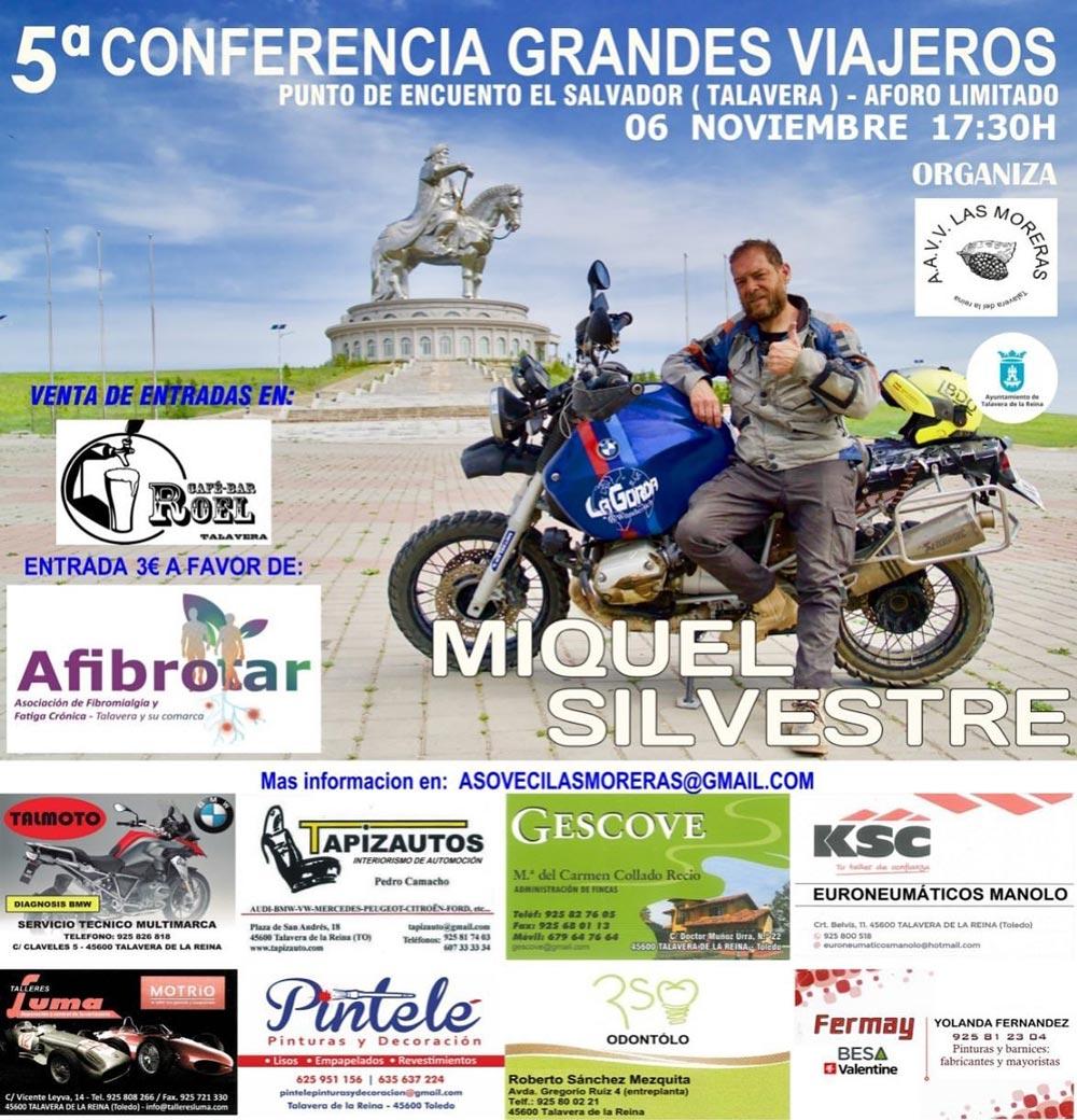 5 Conferencia Grandes Viajeros en Moto Talavera de la Reina